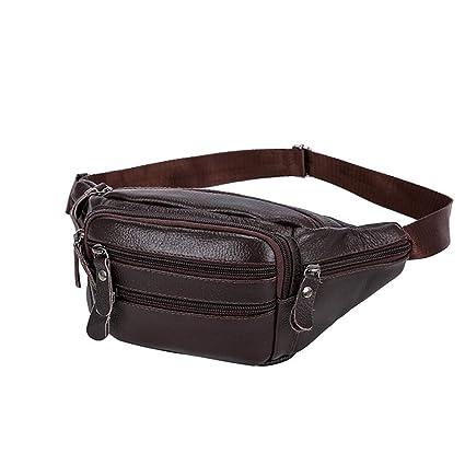 da3d6bad59fb Amazon.com: Canyixiu-s Men's and Women's Retro Leather Waist Bum Bag ...