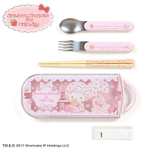 [Sanrio Hello Kitty × Strawberry Shortcake lunch trio From Japan New] (Famous Trios Costumes)