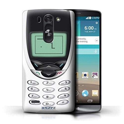Kobalt® Imprimé Etui / Coque pour LG G3 S (Mini)/D722 / Nokia 8210 blanc conception / Série Portables rétro