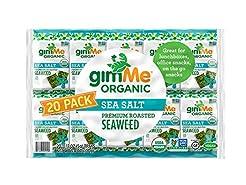 gimMe Snacks - Organic Roasted Seaweed -...