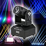 Lixada LED Head Moving Light Total 50W Rotating Moving Head DMX512 Sound Activated Master-slave Auto Running 11/13 Channels RGBW Color Changing Beam Light for Disco KTV Club Party (Beam Light)