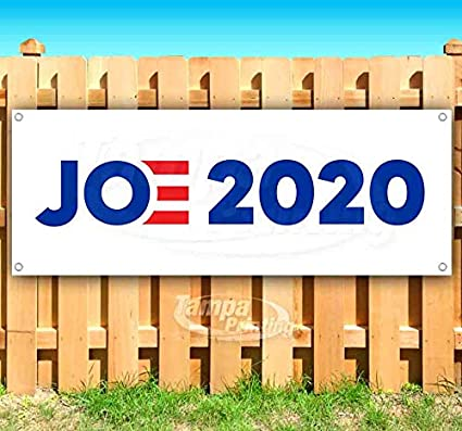 Joe 2020 13 oz Heavy Duty Vinyl Banner Sign with Metal Grommets Flag, Many Sizes Available Store New Advertising
