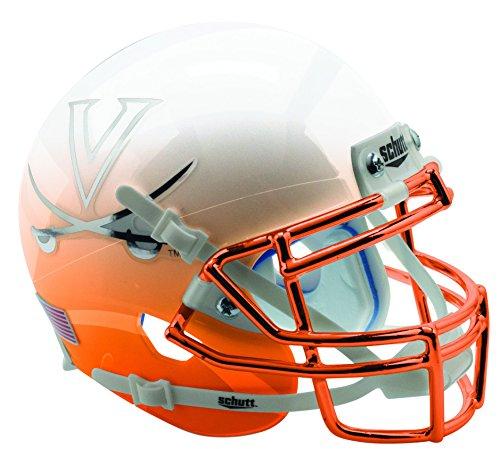VIRGINIA CAVALIERS NCAA Schutt XP Authentic MINI Football Helmet UVA (Mini Authentic Cavaliers Virginia Helmet)