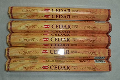 Hem Cedar 100 Incense Sticks (5 x 20 stick packs) - incensecentral.us