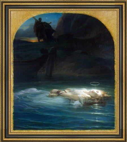 Paul Delaroche Young Christian Martyr - 20'' x 25'' Framed Premium Canvas Print by Art Oyster