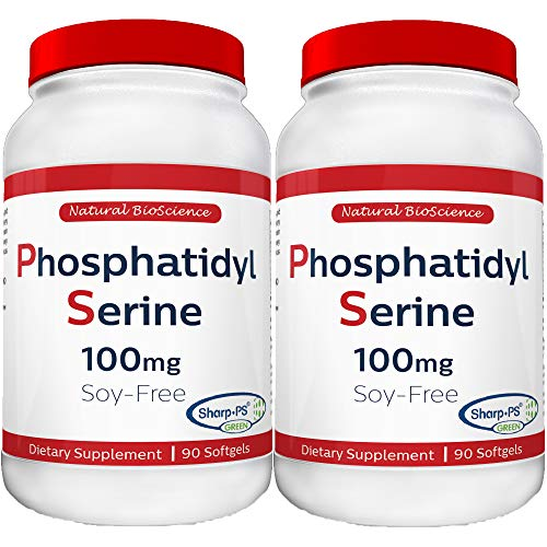 Phosphatidylserine Soy-Free 100mg, 90 Count, Patented Sharp-PS Formula, Phosphatidylserine Complex from Sunflower Lecithin, Natural Brain Booster for Memory and Focus, Soy-Free, Allergen-Free, Non-GMO -  Nugema Research, PS90