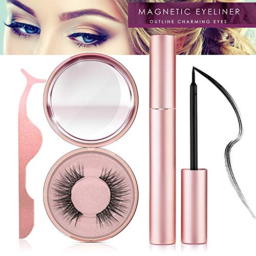 Magnetic Eyeliner Kit, Magnetic Eyeliner With Magnetic Eyelashes, Magnetic Lashliner For Use with Magnetic False Lashes (ET)