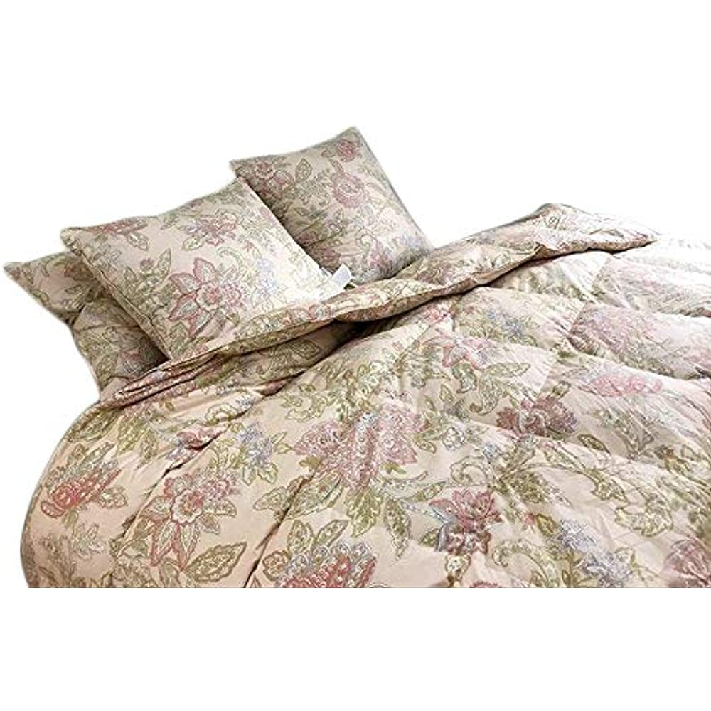 Floral Goose Down  amp Feather Comforter Blanket 100% Organic Cotton ... 870e93916