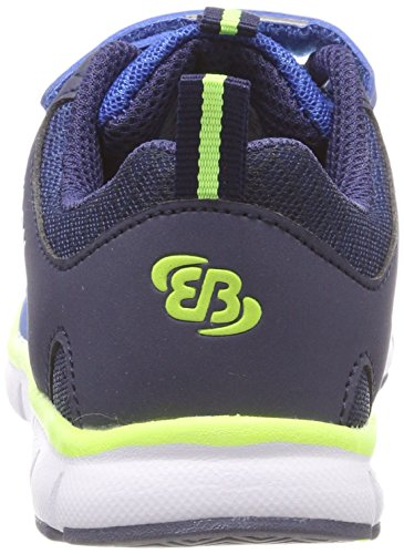 Bruetting Unisex-Kinder Spiridon Fit Vs Sneaker Blau (Blau/Marine/Lemon)