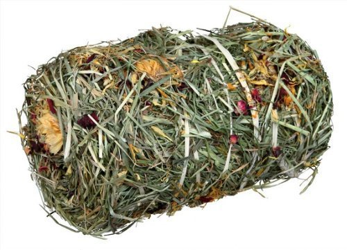 2 x Hay bale with flowermix, ø 10 × 18 cm, 200 g Great for small rodents and rabbits, and Tortoises! UKASNHKTN12345