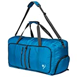 Coreal 80L Foldable Travel Camping Duffel Luggage Bag with Shoe Compartment
