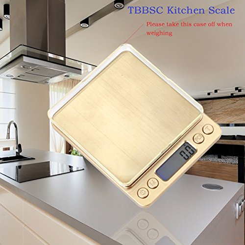 Kitchen scale tbbsc 3000g digital pocket stainless for 0 1g kitchen scales