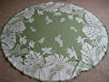 Kauhale Living Hawaiian Tropical Fabric Tablecloth (Green) (70'' round)