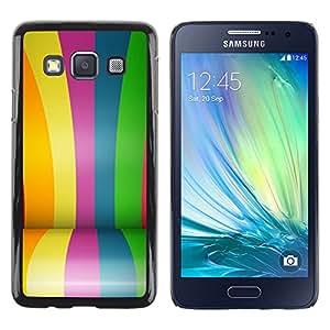 DEMAND-GO Smartphone Rígido Protección única Imagen Carcasa Funda Tapa Skin Cover Case Para Samsung Galaxy A3 SM-A300 - colors rainbow gay blue