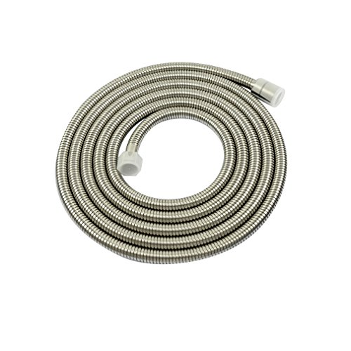 PHASAT A3107N-3.5 138-Inch Extra Long Indoor Outdoor Shower Tube Replacement Stainless Steel Handheld Shower Hose, Bushed (Stainless Steel Outdoor Shower)