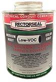 Rectorseal 55983 Pint Clear Pvc Conduit 633L Low Voc Pvc Solvent Cement
