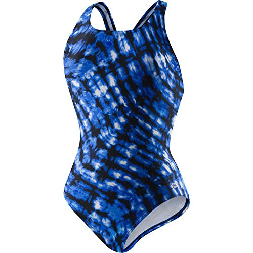 speedo-ladies-ultraback-swimsuit-14-blue-tie-dye