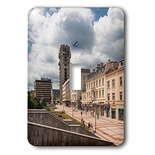 Danita Delimont - Architecture - Bulgaria, Shumen, unfinished Post Office tower - Light Switch Covers - single toggle switch (lsp_227083_1) (Post Tower Office)