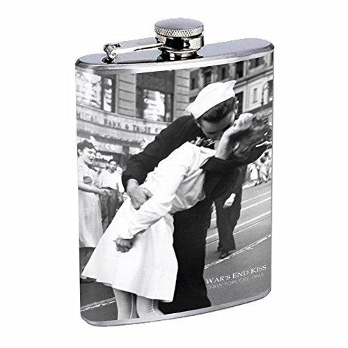 【期間限定】 Perfection Inスタイルステンレススチールフラスコ8オンスビンテージポスターd-024 Kissing on VJ日 – on Nurse Kissing Perfection Sailor B016B7HB52 B016B7HB52, 小山町:efce1018 --- domaska.lt
