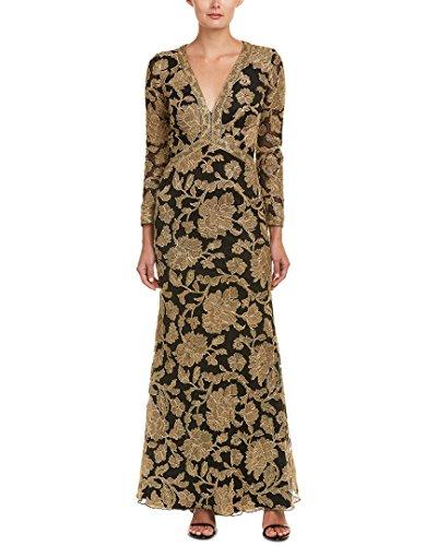 Tadashi Shoji Womens Gown, 2, Black