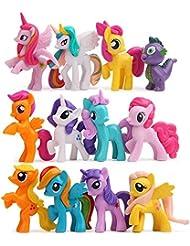 12 pcs (1 set) Little Pony Toys Figurines Playset, Cake decoration