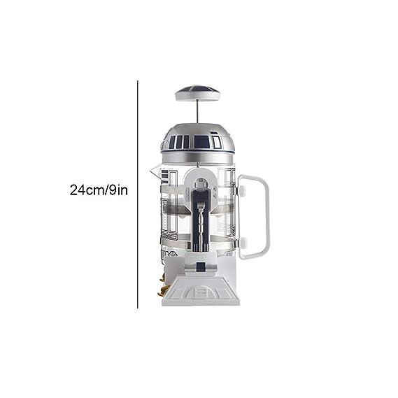 KOUYA Máquina de café de Mano, Robot R2D2 Home Mini Olla de ...