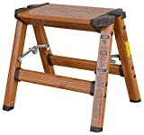 AmeriHome 700350 Lightweight Aluminum Step Stool, 1 Step, Faux Wood Finish