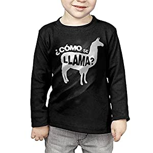 Como Se Llama Pun Funny Humor Joke Kids Children Unisex Long Sleeve Cotton Crew Neck T-Shirt Tee
