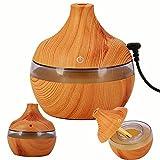 300ML Wood Grain Ultrasonic Cool Mist Humidifier, Aromatherapy...