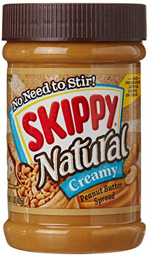 Skippy Creamy Natural Peanut Butter Spread, 15 oz (Natural Peanut Butter Skippy)