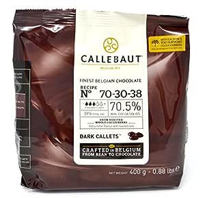 Callebaut Finest Belgian Chocolate Dark Callets Extra Bitter 70.5% - 400g