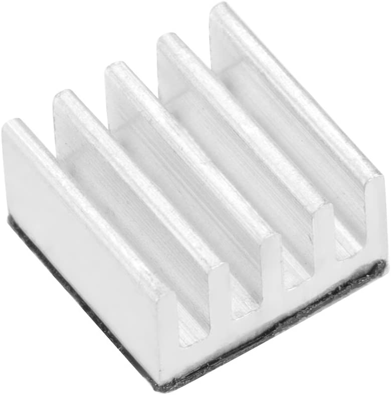 Akozon Adhesive Aluminum Chip Heat Sinks Fast Heat Dissipation for 3D Printer A4988 Set of 10pcs
