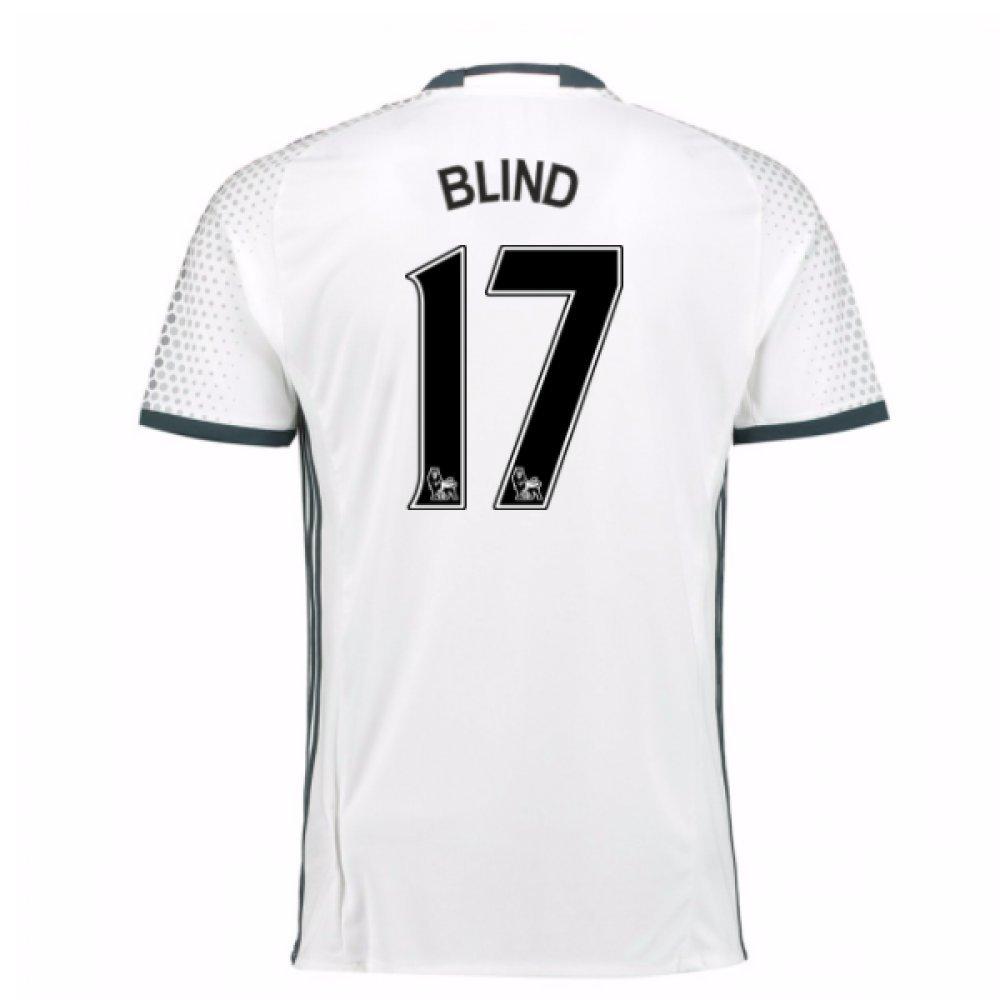 2016-17 Man Utd Third Football Soccer T-Shirt Trikot (Daley Blind 17) - Kids