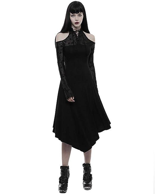5c2de0cfc Punk Rave Gótico Vestido de Mujer Black Rose Corsé Encaje Victoriano  Steampunk Vintage  Amazon.es  Ropa y accesorios