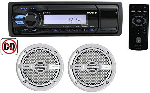 Sony DXSM5021BT Marine receiver with Bluetooth, NFC, App Remote and XSMP1621 speakers