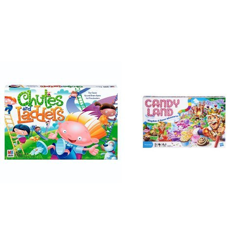 Chutes and Ladders and Candy Land -