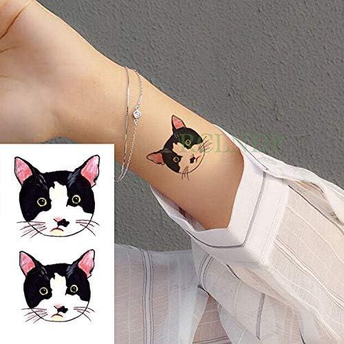 Yyoutop Impermeable Etiqueta engomada del Tatuaje Temporal Gato ...