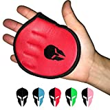 GLADIATOR GYM GEAR WEIGHT LIFTING GRIP SHIELD – GENUINE LEATHER PALM PROTECTION GYM, MACHINE, and KETTLEBELL GLOVES ALTERNATIVE for CROSS TRAINING & BODY BUILDING. The ULTIMATE FOR MEN WOMEN (Red)