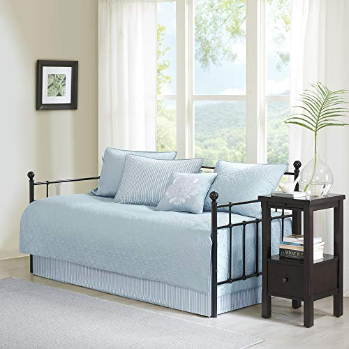 Mansfield Blue Solid Reversible 6-piece Daybed Set