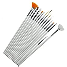 Watercolor Brush Aquarelle Paint Brushes Wooden Handle Pull Hook Line Pen Nail Paintbrush (White)