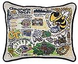 Catstudio- Georgia Tech Embroidered Throw Pillow - 16'' x 20''