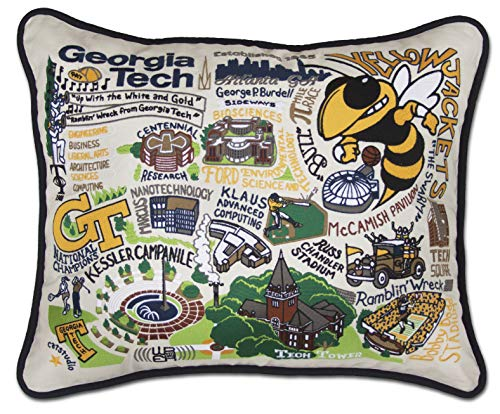 Catstudio- Georgia Tech Embroidered Throw Pillow - 16