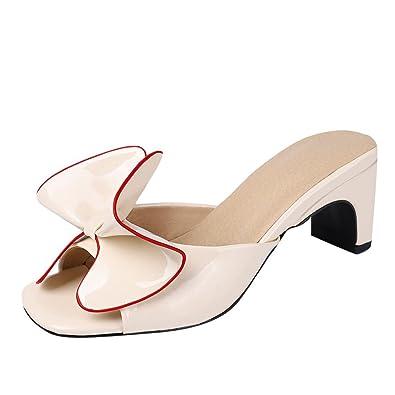 MissSaSa Donna Sandals Estivi Peep Toe da Sala o Lavoro Elegante Moda (40 e0a805b4364