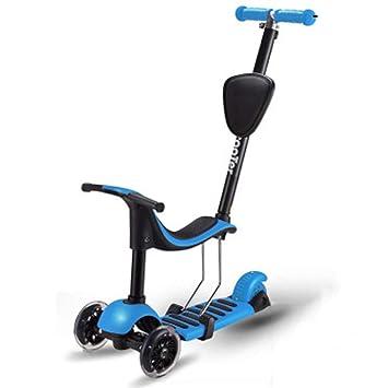 Niños Patinetes Ajustable Desmontable Scooter de asiento ...