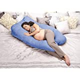 Oggi Elevation Wedge Based Pregnancy Maternity Body Positioning Pillow, Blueberry