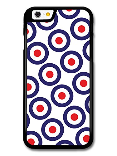 Classic Mod Target Pattern on White Minimalist Design case for iPhone 6 6S