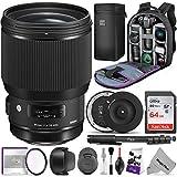 Sigma 85mm f/1.4 DG HSM Art Lens for Canon EF Cameras w/Sigma USB Dock & Advanced...