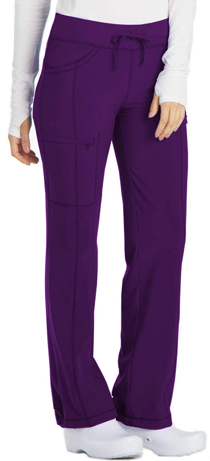1c99430acdf Amazon.com: Cherokee Women's Infinity Low Rise Straight Leg Drawstring Scrubs  Pant: Clothing