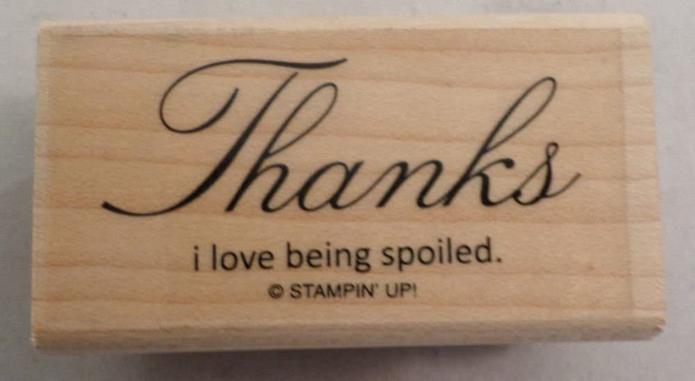 rubber stamp thanks Writing