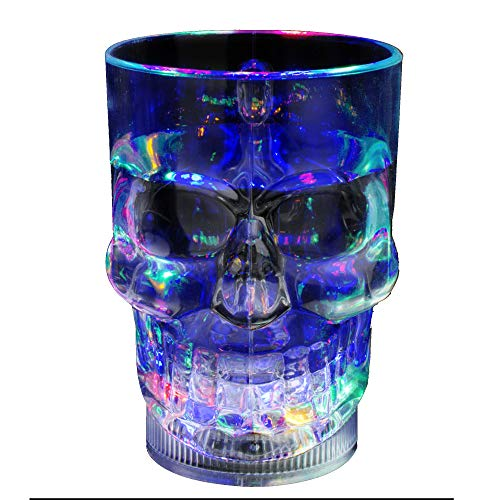 Fun Central AD006, 1 Pc, 14 oz Multicolor LED Liquid Activated Skull Mug, LED Skull Cups For Halloween and Pirate Theme Parties]()